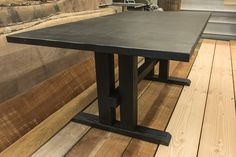 Custom Table Regina Furniture - Scorched Shou-Sugi-Ban