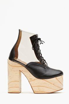 Helga Platform Boot - Clear