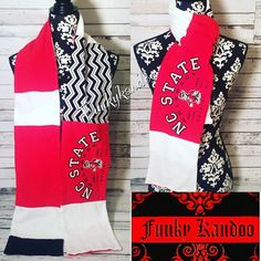 NC State Vintage Tee Scarf by Funkykandoo. Check us out on Facebook or Instagram for more unique gift ideas!