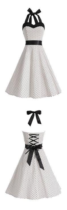 50s vintage style dresses,rockabilly dresses,retro dresses,polka dots dresses