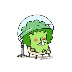 Gendoet #benibroccoli #sannywinarni #broccoli #hairsteamer #vegetable #character #illustration #ブロッコリー