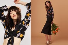 We take a closer look at florals for Blossoms take on a bohemian theme, as floral fashion goes gothic with autumn/winter's dark romance style theme. Bohemian Theme, Floral Fashion, Girls Wear, Floral Tie, Fall Winter, Children, Blouse, Sleeve, How To Wear