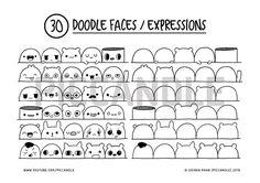60 carina facce / espressioni stampabile praticano di PicCandle