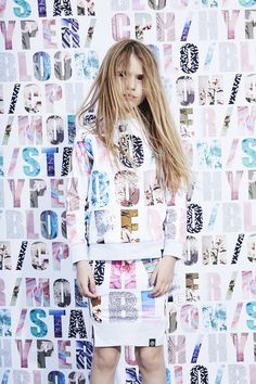 Lettered print in pastels for spring girlswear 2016 at Molo