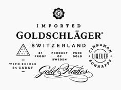 Working on rebranding the Goldschläger packaging as a personal project