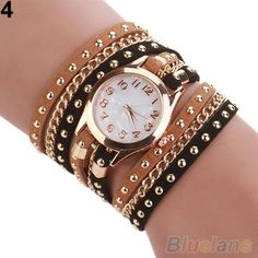 Cheap watch hous, Buy Quality watch bands for vintage watches directly from China watch spanner Suppliers:  A striking design, this bracelet quartz wrist watch is adorned with multilayer rivet braided band, which is a perfect t