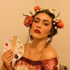 Orion Carloto as Frida Kahlo Halloween costume