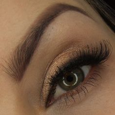 'Romantic Flash' look by Dzastina252 using Makeup Geek's Brown Sugar, and Corrupt eyeshadows along with New Year's Eve pigment.