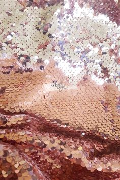 Everybody loves Rose Gold! 🌹✨ ✨ This glamorous Reversible Rose Gold & Silver Sequin embroidered fabric is shimmer in the light. ✂️ This is High Quality Sequin Fabric by yardage with approximate 56 inch & NO hemmed sewing edges. Reception Decorations, Event Decor, Rose Gold Aesthetic, Sequin Fabric, Silver Fabric, Female Dragon, Mermaid Scales, Love Rose, Diy Supplies
