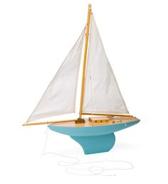 MAGIC CABIN.com ---Wooden Sloop Sailboat great for the kids