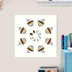 """8 Hour Coffee Clock Work Day"" Art Print by Pultzar   Redbubble"