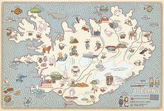 Iceland, from Maps by Aleksandra Mizielinska