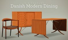 Danish Modern Dining Set - Free Sims 3 Downloads by Awesims