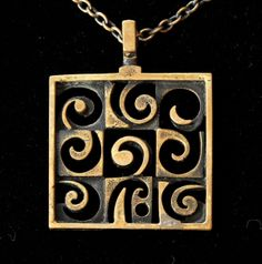 Jorma Laine Bronze Necklace Turun Hopea Lai-For Finland Pendant Jewelry, Jewelry Art, Vintage Jewelry, Jewelry Design, Minimalist Jewelry, Vintage Designs, Swedish Style, Bronze, Jewels