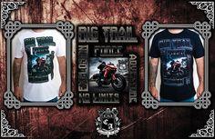(Camiseta Big Trail No Limits).  Visite https://www.cavalariastore.com.br e conheça esta camiseta com a arte exclusive desenvolvida pela Cavalaria de Aço!