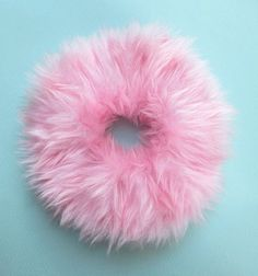 Clueless Furry Scrunchies, Pink Scrunchie, Pastel Grunge, Large Fluffy Hair Ties, Kawaii Ponytail Holder, Scrunchies,  Pink Hair Band,