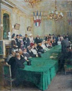 Jules-René Hervé - Langres, mariage dans le salon d'honneur de la mairie