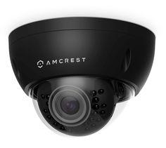 Amcrest ProHD Outdoor 3 Megapixel POE Vandal Dome IP Security Camera - IP67 Weatherproof, IK10 Vandal-Proof, 3MP (2048 TVL), IP3M-956E (Black)
