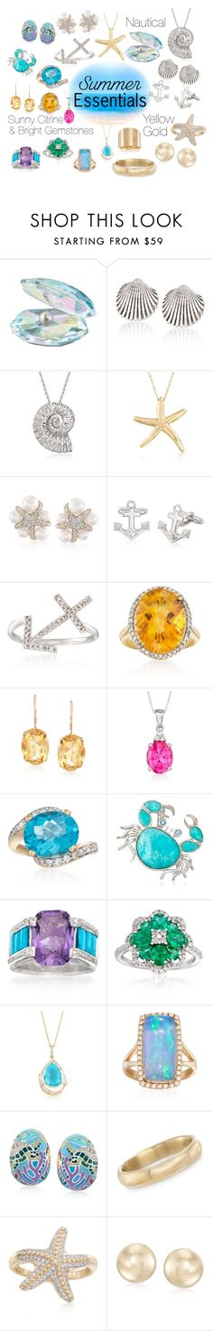 """""""Summer Jewelry Essentials"""" by rosssimons ❤ liked on Polyvore featuring Swarovski, Ross-Simons, Roberto Coin, Gregg Ruth, Belle Etoile and Andiamo"""
