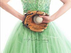 With a softball