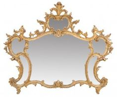Lot: A ROCOCO LOUIS XV STYLE GILTED AND CARVED WOOD MIRROR, Lot Number: 0045, Starting Bid: $250, Auctioneer: Morton Auctioneers , Auction: Antiques & Interiors, Date: July 26th, 2013 MSK