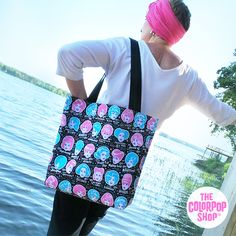 GLAMORAMA All-Over Printed Tote Bag exclusively for TheColorPopShop.com. #TheColorPopShop #VintyFresh #Beauty #Retro #Summer #Spa #BeachBag #ToteBag