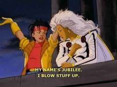 """In fact, she has the potential to detonate matter at a SUB-ATOMIC LEVEL. YOU GUYS. That's like a nuclear bomb. 