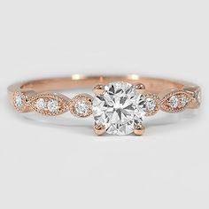 14K Rose Gold Tiara Diamond Ring