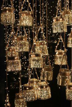 DIY for Diwali…Happy Diwali to Everyyyyone! DIY for Diwali…Happy Diwali to Everyyyyone! Happy Diwali, Diwali Diy, Diwali Party, Diy Décoration, Easy Diy, Simple Diy, Diy Hanging, Hanging Jars, Ceiling Hanging