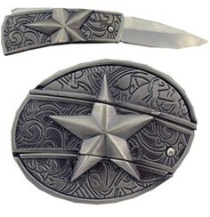 Bedazzled Star Belt Buckle