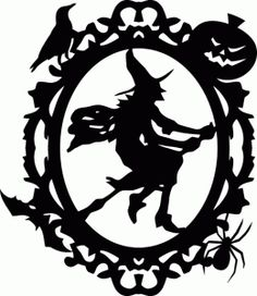 Silhouette Online Store: Halloween witch