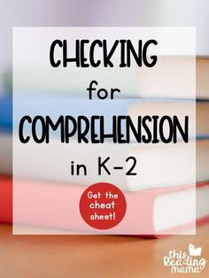 Checking comprehension isn't always as neat and easy as checking to see if a learner knows their math facts. The way one person processes a text can be be different than another person. And the way that same person processes one kind of text will look dif Teaching Vocabulary, Teaching Kindergarten, Teaching Tips, Guided Reading Lessons, Teaching Reading, Reading School, Reading Activities, Kind Of Text, Reading Comprehension Strategies