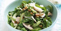 Spinazie-selderijsalade met kip