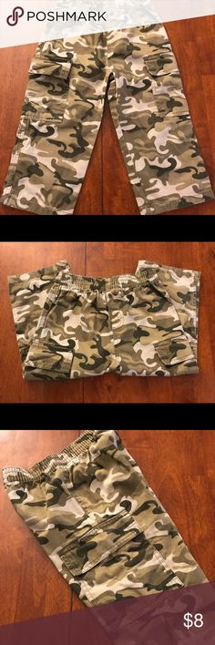 Faded Glory boys 3T camo cargo pants Boys 3T Faded Glory camouflage cargo pants  Barely worn and in great condition! Faded Glory Bottoms