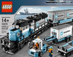 Train and Lego fans alike will love Lego's Maesrk Train Set 10219. Rated for individuals aged 14 and up.