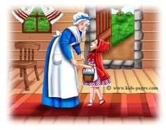 keep sharing your light :): ~ Little Red Riding Hood ~ Red Riding Hood Story, Little Red Ridding Hood, Sleeping Wolf, Aurora Sleeping Beauty, Mother Clipart, Traditional Stories, Kids Pages, English Book, Stories For Kids
