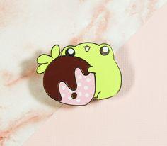 Strawberry Frog Enamel Pin - standard grade