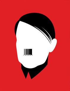 The red creates anger amidst a black and white face. The barcode in black symoolizes a message of similarity and inspires revolution. Noma Bar, Graphic Design Pattern, Ad Design, Design Trends, Random Web, Black And White Face, Bar Art, Virtual Art, Commercial Art