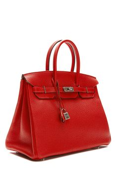 35Cm Rouge Casaque Clemence Leather Birkin by Heritage Auctions Special Collections for Preorder on Moda Operandi