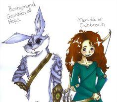 Bunnymund and Merida (: