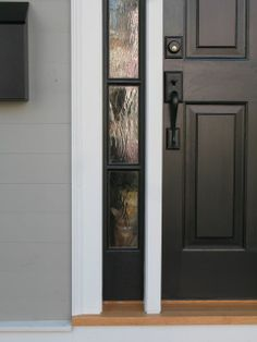 Exterior Door hardware Emtek Richmond door set in flat black with
