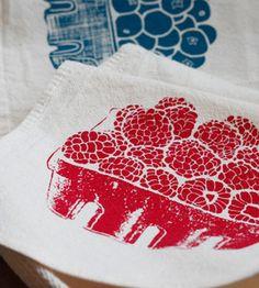 berry napkins. gorgeous prints.