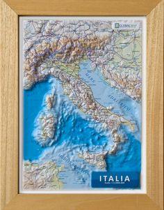 Serie:  Carte in rilievo formato A4 Scala:  1:5.500.000 Formato:  21 x 29,7 cm