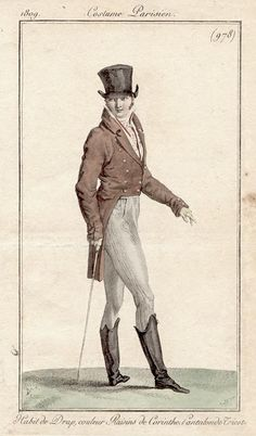 Rather a dandy chap 1809 Costume Parisien