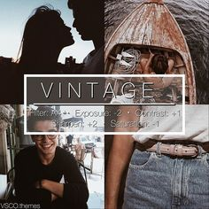 VSCO vintage brown High contrast low exposure situration For wood trees outdoors and outfits. Can be used for group and selfie photots Instagram Theme Vsco, Photo Instagram, Instagram Feed Themes, Summer Feed Instagram, White Instagram Theme, Photography Filters, Photography Editing, Sunset Photography, Photography Music