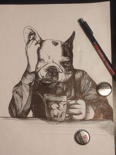 jeroen , teunen , frenchie , french bulldog , the dog painter