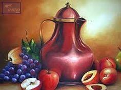 Resultado de imagem para telas a oleo com frutas