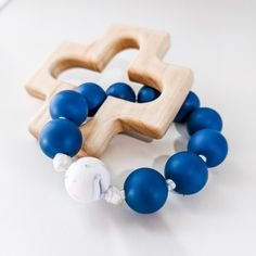 A rosary teether for your Catholic baby!