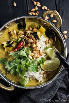 ACORN SQUASH AND COCONUT CURRYReally nice recipes. Every #hashtag
