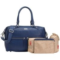 Storksak Caroline Leather Changing Bag, Blue £259.00 #babyfashion